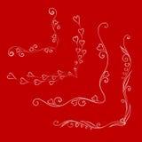 Elementi calligrafici di progettazione di San Valentino illustrazione di stock