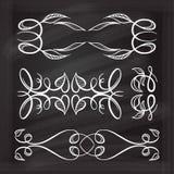 Elementi calligrafici di progettazione di vettore Immagine Stock