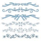 Elementi calligrafici stabiliti di San Valentino illustrazione vettoriale