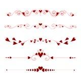 Elementi calligrafici stabiliti di San Valentino royalty illustrazione gratis