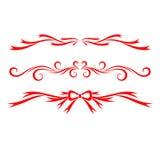 Elementi calligrafici stabiliti di San Valentino illustrazione di stock