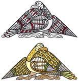 Elementi celtici di disegno degli uccelli Fotografie Stock