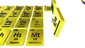 Elementi chimici della tavola periodica video d archivio