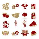 Elementi cinesi del nuovo anno, Fotografie Stock