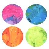 Elementi colourful astratti di progettazione dell'acquerello Fotografie Stock Libere da Diritti