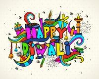 Elementi Colourful per la celebrazione di Diwali royalty illustrazione gratis