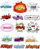 Elementi comici Fotografia Stock