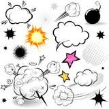 Elementi comici di disegno Fotografia Stock