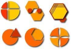 Elementi con le ombre di goccia illustrazione di stock
