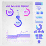 Elementi concettuali di Infographic Fotografia Stock Libera da Diritti