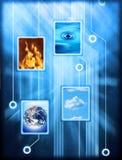 Elementi connessi della natura Immagini Stock