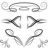 Elementi convenzionali eleganti di disegno dell'invito Fotografia Stock