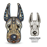 Elementi creativi del brandbook e di logo con il cane Immagini Stock Libere da Diritti