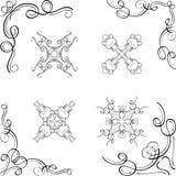 Elementi d'angolo di progettazione di lusso di turbinio royalty illustrazione gratis