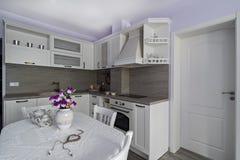 Elementi d'annata della cucina, ornamenti e dettagli della cucina nello stile classico Fotografie Stock Libere da Diritti