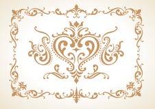 Elementi d'annata della decorazione Fotografia Stock