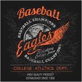 Elementi d'annata di logo, dell'emblema, del distintivo e di progettazione di baseball Illustrazione di vettore Fotografie Stock Libere da Diritti