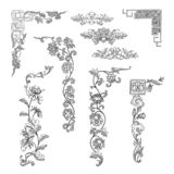 Elementi d'annata di progettazione dell'angolo di vettore per gli ornamenti del confine royalty illustrazione gratis