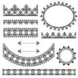 Elementi d'annata neri di progettazione Royalty Illustrazione gratis