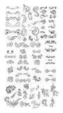 Elementi d'annata per la vostra progettazione Disegnato a mano Fotografia Stock Libera da Diritti