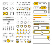 Elementi d'avanguardia di vettore dell'interfaccia di stile differente Fotografie Stock Libere da Diritti