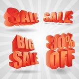 Elementi 3d di progettazione di vendita di vettore Fotografia Stock