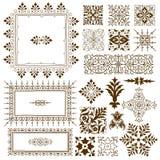 Elementi decorati calligrafici decorativi di progettazione Fotografia Stock Libera da Diritti