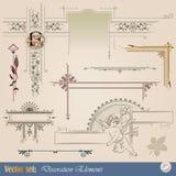 Elementi decorativi illustrazione vettoriale