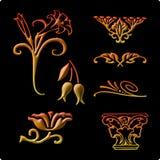 Elementi decorativi 1 Fotografia Stock