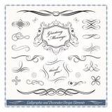 Elementi decorativi calligrafici di progettazione Fotografia Stock
