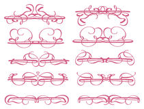 Elementi decorativi d'annata di progettazione Immagini Stock
