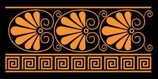 Elementi decorativi del greco antico illustrazione vettoriale