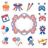 Elementi decorativi della cultura di U.S.A. della cultura di U.S.A. Fotografie Stock Libere da Diritti