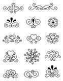 Elementi decorativi di disegno   Fotografia Stock