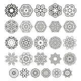 Elementi decorativi di disegno Cerchio ornament Insieme di vettore Fotografie Stock Libere da Diritti