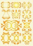 Elementi decorativi di disegno dell'annata Fotografia Stock Libera da Diritti