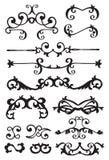 Elementi decorativi di disegno dell'annata Fotografia Stock