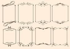 Elementi decorativi di disegno dell'annata Fotografie Stock