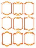 Elementi decorativi di disegno dell'annata Immagini Stock