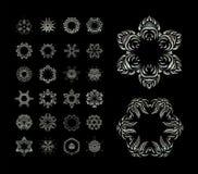 Elementi decorativi di Mandala Vintage Fotografia Stock
