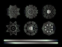 Elementi decorativi di Mandala Vintage Fotografie Stock Libere da Diritti