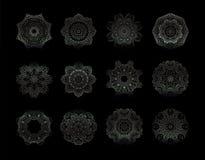 Elementi decorativi di Mandala Vintage Immagini Stock Libere da Diritti