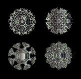 Elementi decorativi di Mandala Vintage Fotografia Stock Libera da Diritti