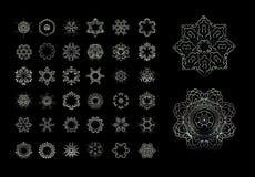 Elementi decorativi di Mandala Vintage Immagine Stock Libera da Diritti