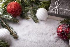Elementi decorativi di Natale Fotografia Stock
