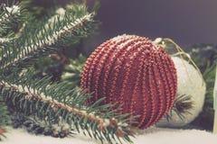Elementi decorativi di Natale Fotografia Stock Libera da Diritti