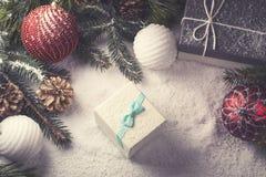 Elementi decorativi di Natale Immagini Stock