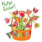 Elementi decorativi di Pasqua in uno stile triangolare Fotografie Stock