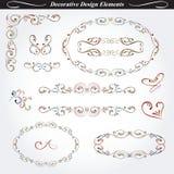Elementi decorativi di progettazione Immagine Stock