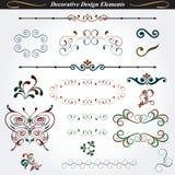 Elementi decorativi 3 di progettazione Fotografia Stock